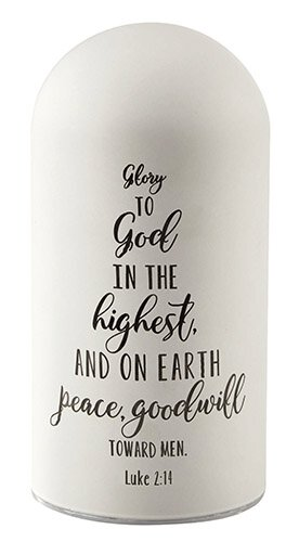 "Glory To God - Luke 2:14 - 3.5"" X 7"" Tabletop"