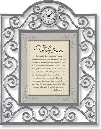 A Time for Every Season Ecclesiastes 3:1-8 Table Clock