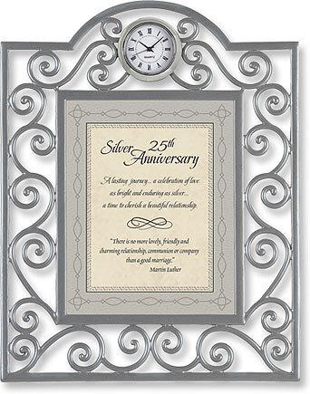 Silver 25th Anniversary Clock