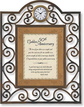 50th Golden Anniversary Clock