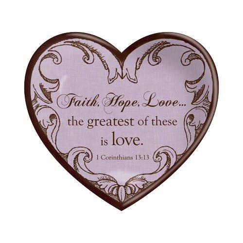 Ceramic Heart Faith, Hope, Love