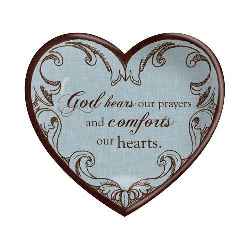 Ceramic Heart God Hears Prayers