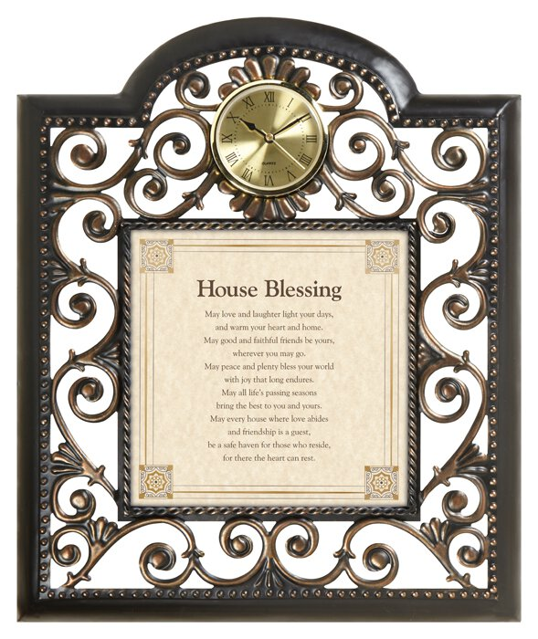 "House Blessing 15"" X 18"" Wall Clock"