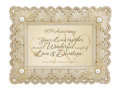 From This Day Forward - 60th Anniversary-Philippians 1:3 - Framed Print
