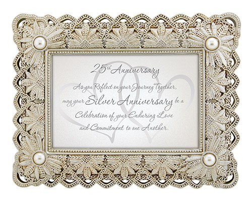 "25th Anniversary - 9"" X 7"" Framed Tabletop"