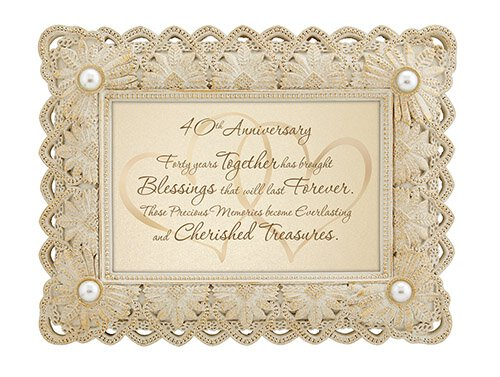 "40th Anniversary - 9"" X 7"" Framed Tabletop"