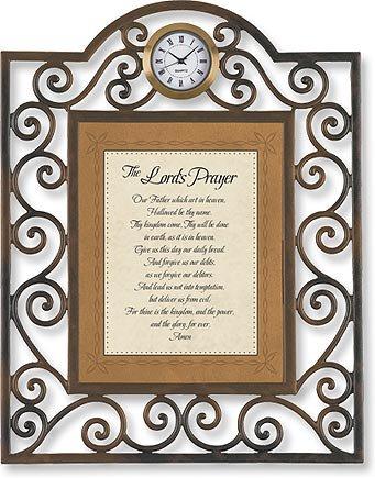 The Lord's Prayer Clock