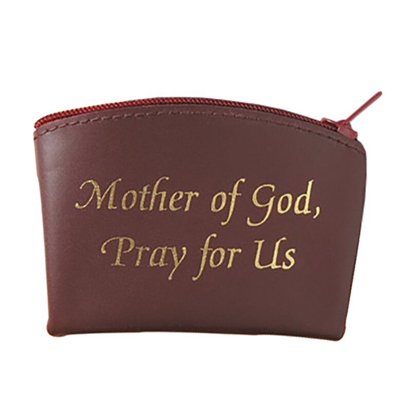 Mother of God, Pray for Us Zippered Rosary Case