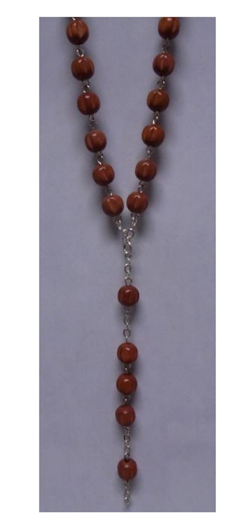 Rosary Strand Round Wood Brown
