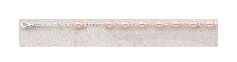 Pink Bracelet Faux Pearl