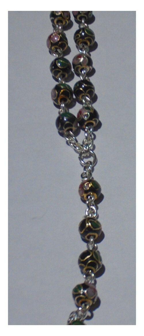 Black Cloisonne Rosary Strand