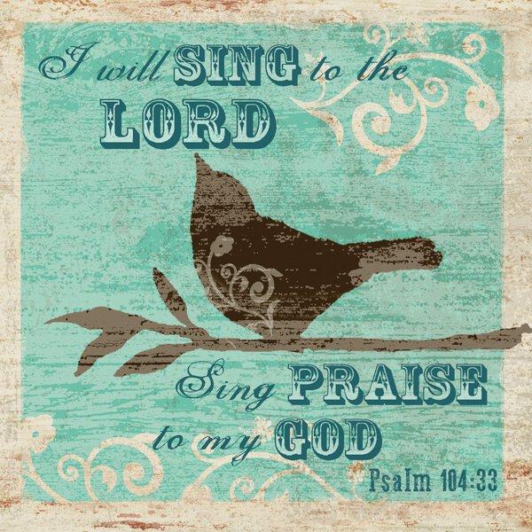 Nightlight Insert -Bird Psalm 104:33