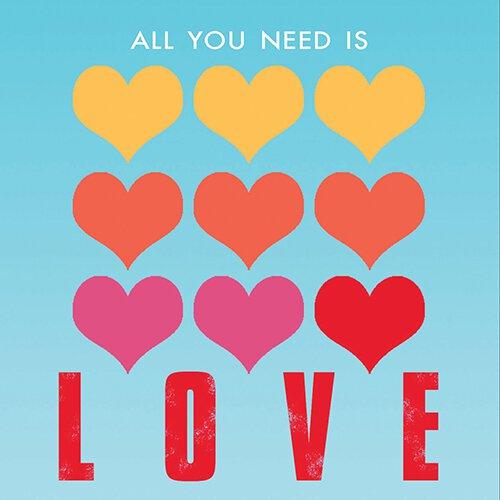 4x4 Creative Unframed Print - Love