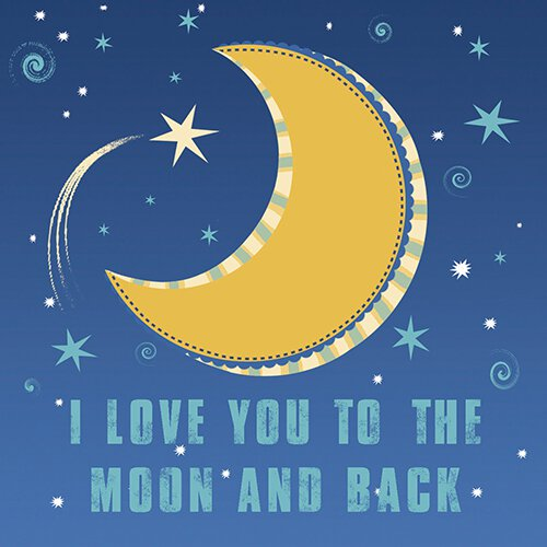 I Love You To The Moon and Back Nightlight Insert