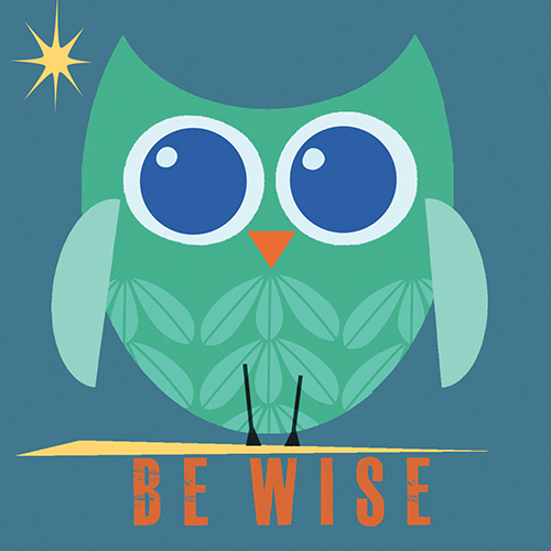 4x4 Creative Unframed Print - Owl