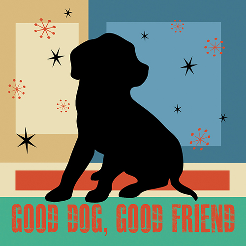 4x4 Creative Unframed Print - Good Dog