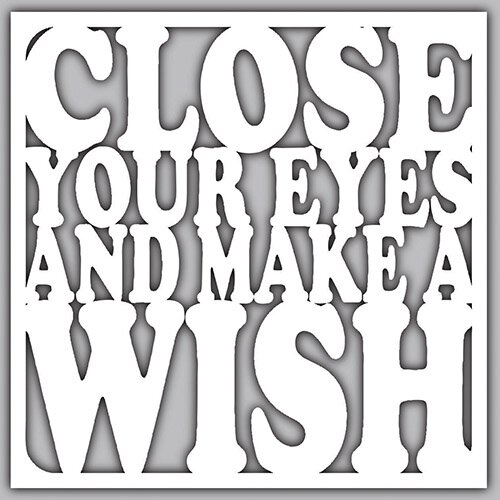 Close Eyes And Make Wish Cut Out Nightlight Insert
