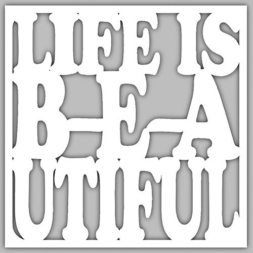 4x4 Creative Unframed Print - Life Is B-E-A-UTIFUL