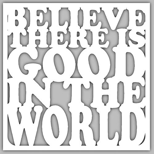 Believe Good in World Cut Out Nightlight Insert