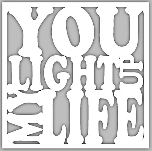 4x4 Creative Unframed Print - You Light Up My Life