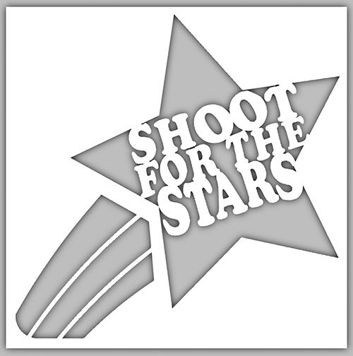 Shoot for the Stars Cut Out Nightlight Insert