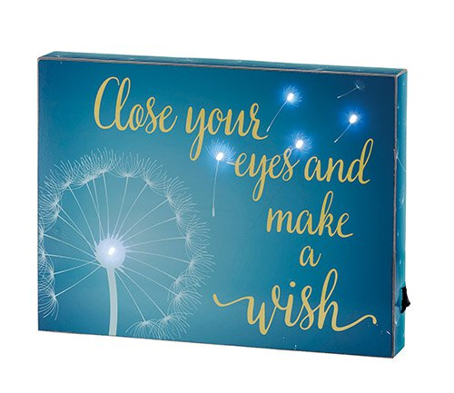 "Close Your Eyes And Make A Wish - 12"" X 9"" SQ Light Box"