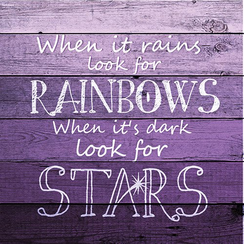 Ombre Wood- Rainbow Star Nightlight Insert