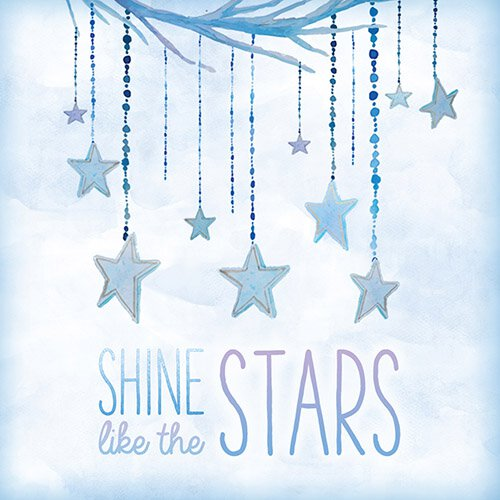 4x4 Creative Unframed Print - Shine Stars