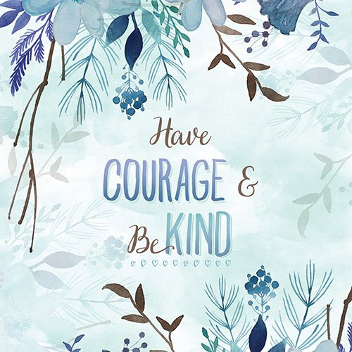 Floral- Have Courage  & Be Kind Nightlight Insert