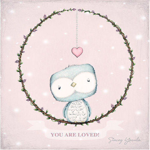 Girl You Are Loved Nightlight Insert