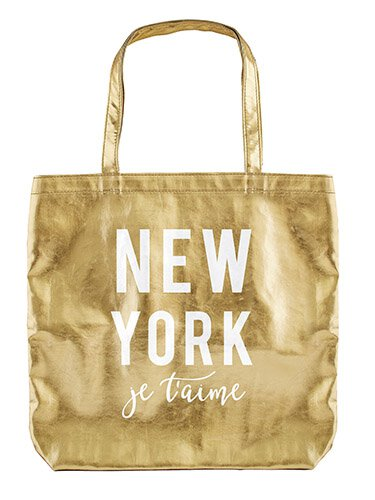 New York Je t'aime - Gold Tote
