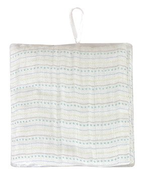 Blue Dots Mesh-Bagged Swaddle Blanket