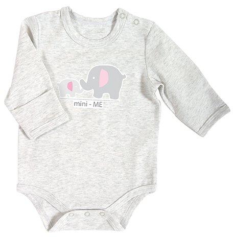 Snapshirt Heather Pink Mini Me Elephant