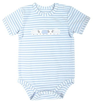 Blue Stripe 3-6mo Lamb Snapshirt