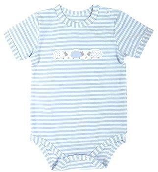Blue Stripe 6-12mo Lamb Snapshirt
