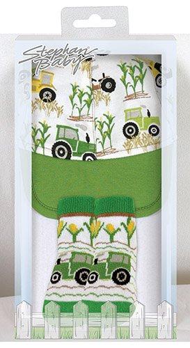 0-6mo Tractor Cap & Socks Set