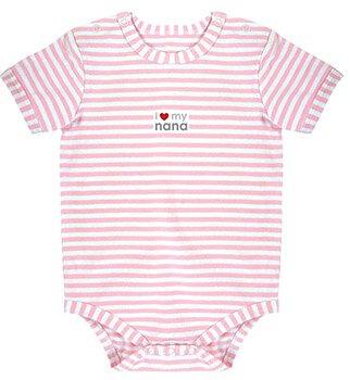 Pink Stripe 0-3mo I Love my Nana Snapshirt