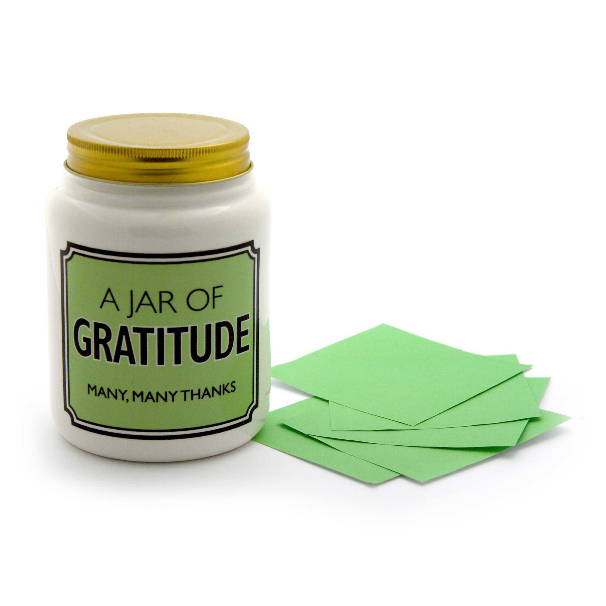 A Jar of Gratitude - with Note Paper