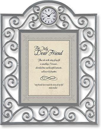 For My Dear Friend Clock