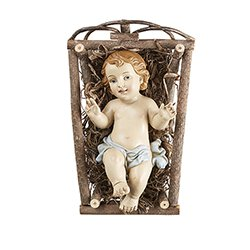 Infant Jesus with Crib-Small