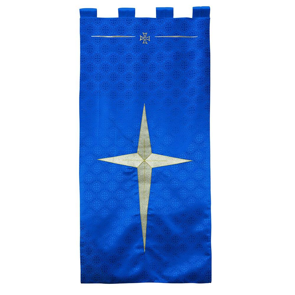 Blue Maltese Jacquard Banner