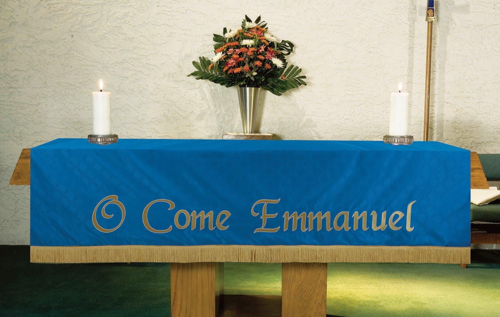 Maltese Jacquard Altar Frontal - Blue