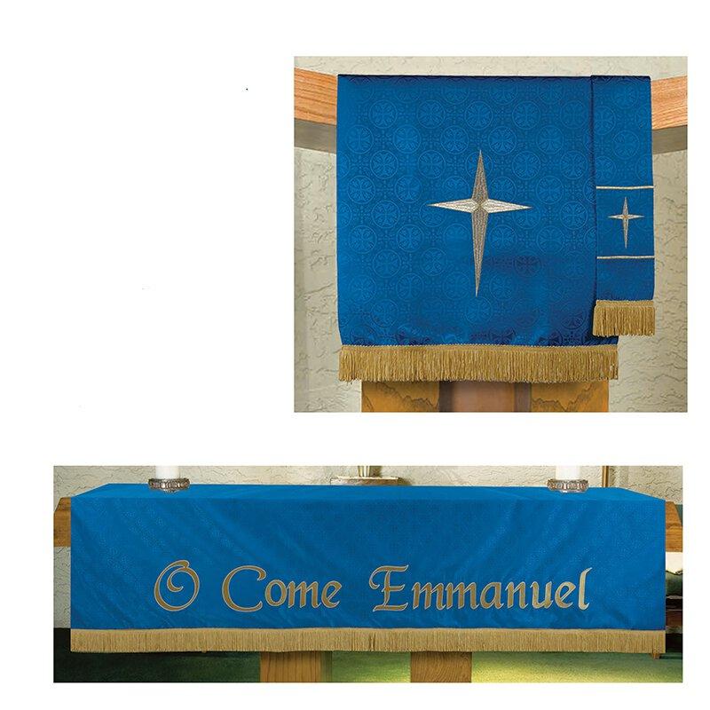 Blue Maltese Jacquard Paraments – 3/set