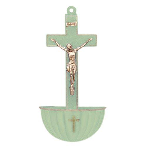 Luminous Crucifix Holy Water Font - 12/pk