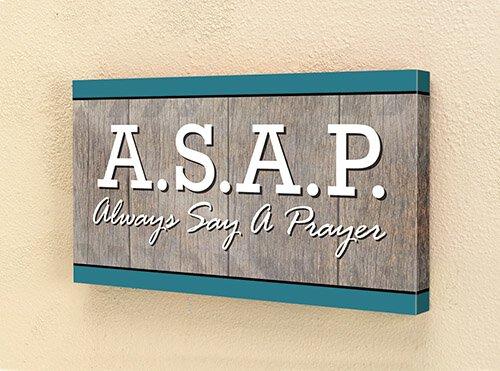 ASAP Canvas Wall Plaque - 4/pk