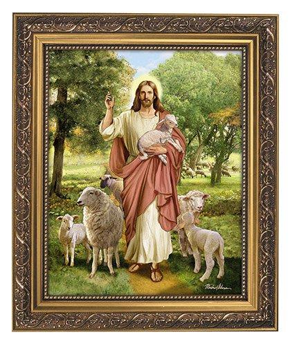 Christ The Good Shepherd Framed Print