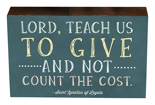 "8"" Box Sign - Lord, Teach Us to Give"