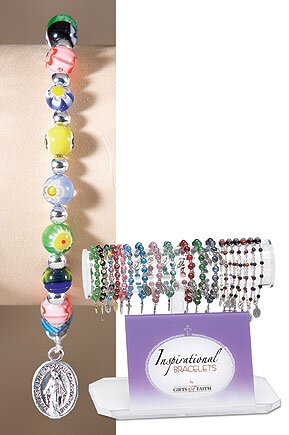 Multi Flower Bead Bracelet