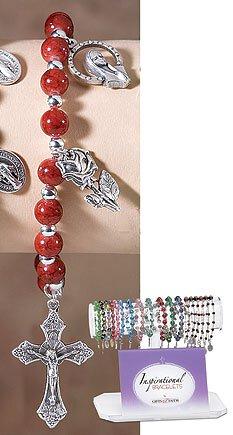 Red Marble Bead Bracelet