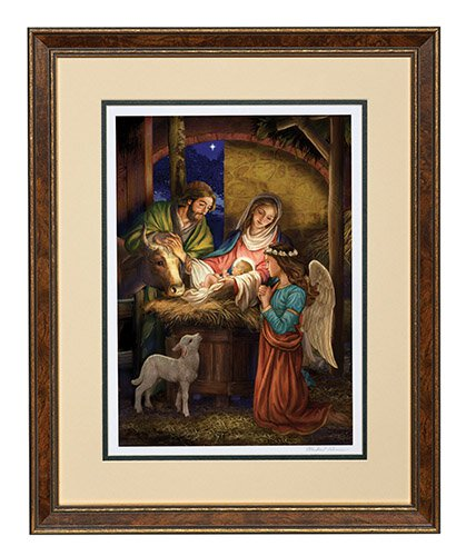 Away In A Manger Limited Edition Giclée Framed Print